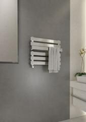 Kleine handdoekradiator staal chroom 42x50cm 280 watt - Eastbrook Ascona