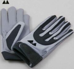 Grijze Meyer Marketing MM Football Receiver Gloves - Grey - Small