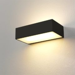 Merkloos / Sans marque Artdelight - Wandlamp Eindhoven 150 LED - Zwart - 2x LED 8W 2700K - IP54 - Dimbaar > wandlamp binnen | wandlamp buiten | wandlamp zwart | muurlamp | led lamp