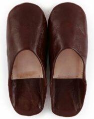 Bruine Fatimamorocco.nl Babouche simple Brown XL