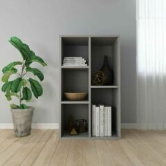 SJ interiors Boekenkast 45x25x80cm Grijs (Incl Magazine Houder) - Boeken kast - Boekenrek - badkamer rek - Woonkamer rek