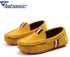 Bambino JABASIC Kids Leather Shoes 2018 Casual Shoes Boys Loafers All Sizes 21-36 Boys Slip-on Soft Breathable Shoe Girls Party Shoes