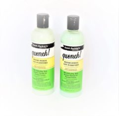 Voordeel set 2x Aunt Jackies Quench moisture intensive leave in conditioner -hydraterende conditioner - 355ml