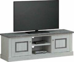 BELFURN Tv-meubel in lichte eik met gemarmerde top ENAL