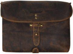 Green Burry Greenburry Vintage Military Bag Sattelbraun Umhängetasche