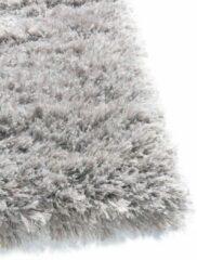 Osta Carpets Hoogpolig Effen Vloerkleed | Elegant | Flair | Wol | Polyester | Kindvriendelijk | Geluiddempend | Zacht onder de voeten | Zilvergrijs | 240 x 340