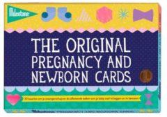 Blauwe Milestone Pregnancy and Newborn fotokaarten (30 stuks)