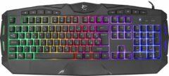 White Shark KIOWA GK-2021 Gaming toetsenbord met LED RGB verlichting US Layout - Zwart