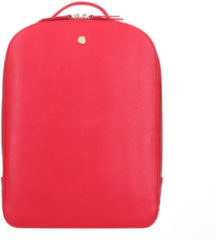 FMME Dagrugzak Claire Laptop Backpack Grain 13.3 Inch Rood