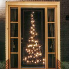 Zwarte Fairybell deurboom 60 lampjes warmwit - 210 CM