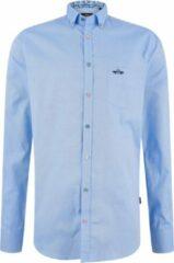 HV Society Lange mouw Overhemd - 0404103107-Fender LS Blauw (Maat: L)