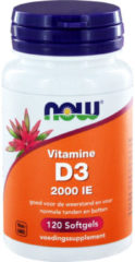 Now Foods NOW Vitamine D3 2000 IE Softgels 120st