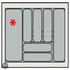 Zilveren Bestekbak Organiser universeel inzetbaar, 501 - 600 mm breed, 441 - 520 mm diep.