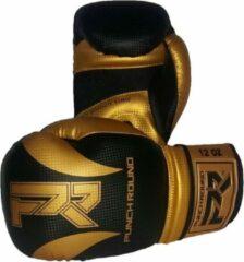 Punch Round™ Punch Round Bokshandschoenen SLAM Mat Carbon Zwart Goud 8 OZ