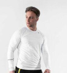 Bodyfit body fit perfection stretch t shirt sportshirt heren wit