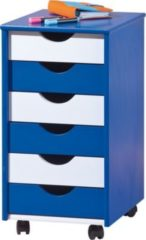 Ilsas Inter Link ABC Rollcontainer Beppo blau/weiss