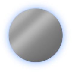 Looox Cm-line spiegel 80cm.rond met rgb-w led alu helder spcm800