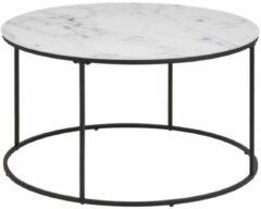Witte Lisomme Zip ronde salontafel - Marmer - Ø80 x H44 cm