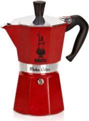 Rode Bialetti Espressomaker - Moka Express - 6 kops - rood