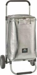 Zilveren Be Cool City Trolley Koeltas Silver   Design   boodschappenkar   Beach trolley   Premium   Coolingbag   36 ltr
