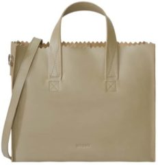 MYOMY Schoudertas My Paper Bag Handbag Crossbody Leer - beige