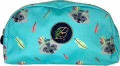 Become - Pennenzak blauw met wasbeer