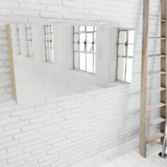 Zaro Beam licht eiken spiegelkast 150x70x16cm 3 deuren