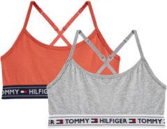 Grijze Tommy Hilfiger Bralette met logoband in 2-pack