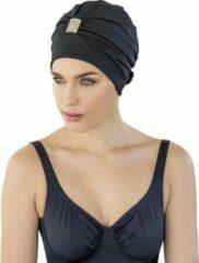 Fashy Zwarte badmuts tulband voor dames