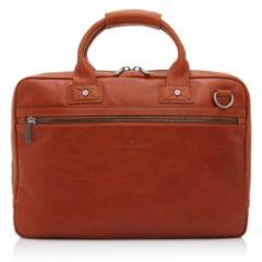 Bruine Castelijn & Beerens Firenze Business Laptop tas 15,6'' Licht Bruin – Laptoptas – Bruin