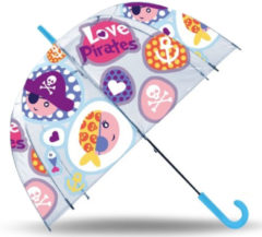 Transparante Kids Licensing Paraplu Love Pirates 48 Cm Polyester