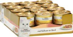 Gourmet Gold Fijne Hapjes - Kattenvoer Kalkoen & Eend - 24 x 85 g