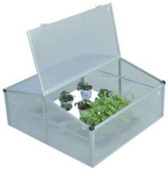 Frühbeetkasten mit 2 aufklappbaren Deckeln Outsunny Wände und Deckel: transparent; Rahmen: silber