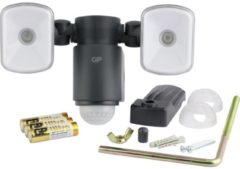 GP batterijen LED-buitenschijnwerper met bewegingsmelder Neutraal wit Zwart GP Batteries RF2.1 810SAFEGUARDRF2.1