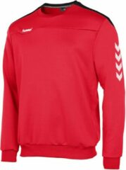 Rode Hummel Valencia Top Round Neck Sporttrui Kinderen - Red/Black