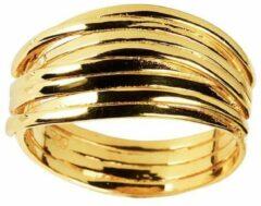 Juulry Goud Plated Gevlochten Ring
