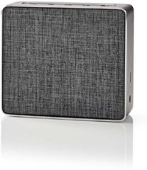 Grijze Nedis Bluetooth® Speaker | 15 W | Metal Crafted Design | Gun Metal Grey