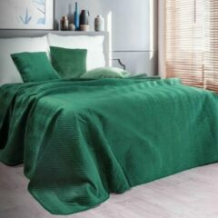 Donkergroene Brulo Beddensprei sprei kleur Donker groen 200X220cm 100% POLYESTER