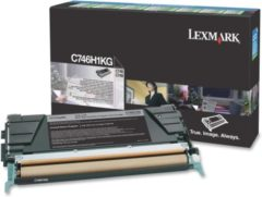Zwarte LEXMARK C746, C748 tonercartridge zwart standard capacity 12.000 pagina s 1-pack - return program