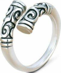 Charme Bijoux Ring- Dames-Zilverkleur-Plating-Tibertaanse stijl- Verstelbaar