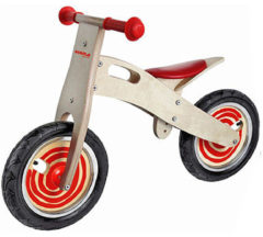 Rode Simply for Kids Balance Bike Houten Loopfiets Junior Rood