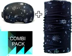 Witte Goggle Protect Combipack | Skibril | Bandana | Sjaal | Beschermhoes | Cover | Skihelm | Wintersport | Ski | Snowboard | Mondmasker