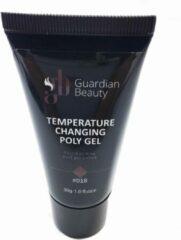 Bordeauxrode Guardian Beauty Polygel - Polyacryl Gel - Temperature Changing - Kleur Bordeaux - 30gr - Gel nagellak - Fantastische glans en kleurdiepte - UV en LED-uithardbaar - Kunstnagels en natuurlijke nagels