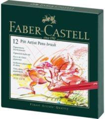 Faber Castell Tekenstift Faber-Castell Pitt Artist Pen Brush 12-delig Studiobox