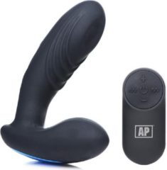 Zwarte Alpha-Pro 7x P-Thump Tapping Prostate Vibe with Remote Control - Black