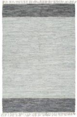 Home Deco VidaXL Vloerkleed chindi handgeweven 160x230 cm leer grijs