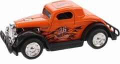 Toi Toys BV Hot Rod Auto Metal Pull Back (Oranje) 9 cm Toys - Modelauto - Schaalmodel - Model auto - Miniatuur auto - Miniatuur autos
