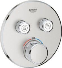 Roestvrijstalen GROHE Grohtherm SmartControl Thermostatiche Douchekraan - Inbouw - Met omstelling - RVS (supersteel)