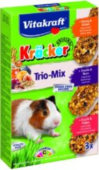 Vitakraft Trio Mix honing/spelt- fruit/flakes-druif/noot-cräcker cavia 3-in-1