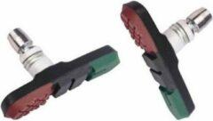 Cycle Tech Remblokken Inbus V-brake 72 X 11 Mm Zwart/rood/groen 2 Stuks